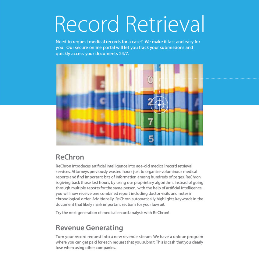 Record Retrieval Brochure